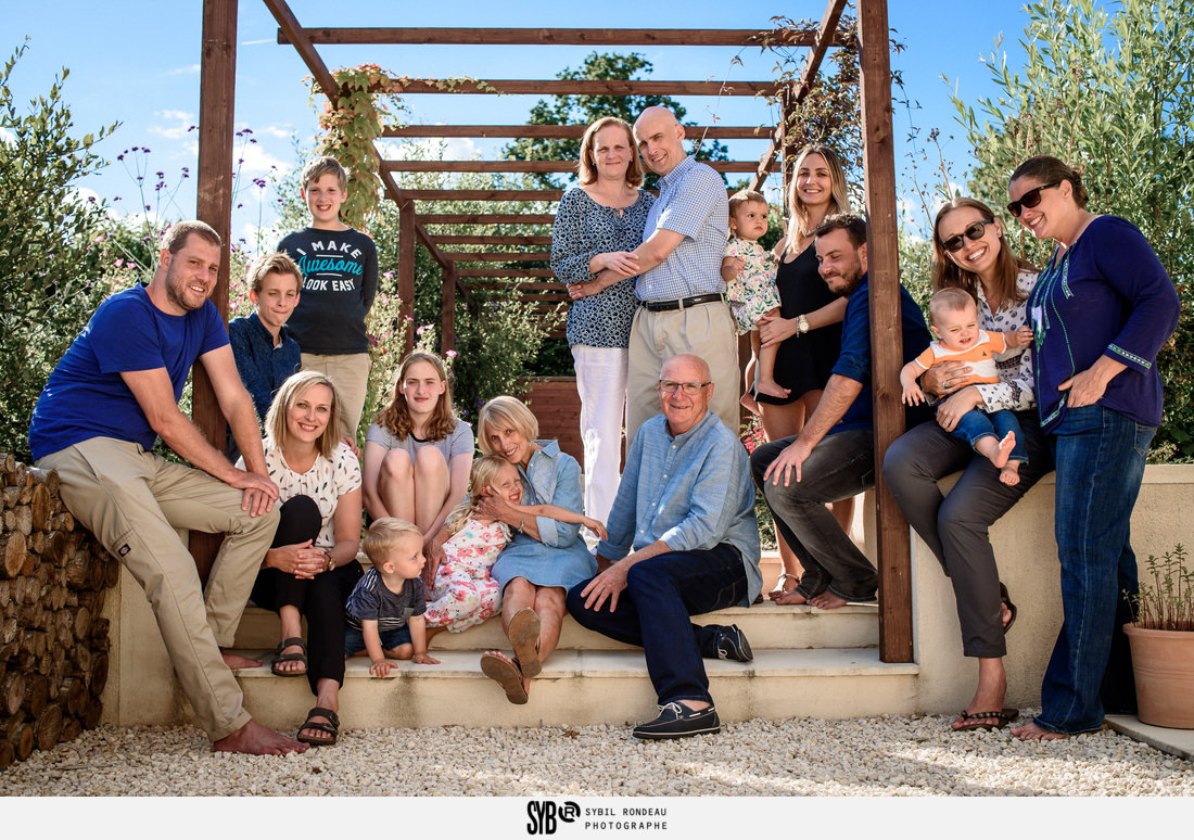 photo de groupe, photo d'une grande famille